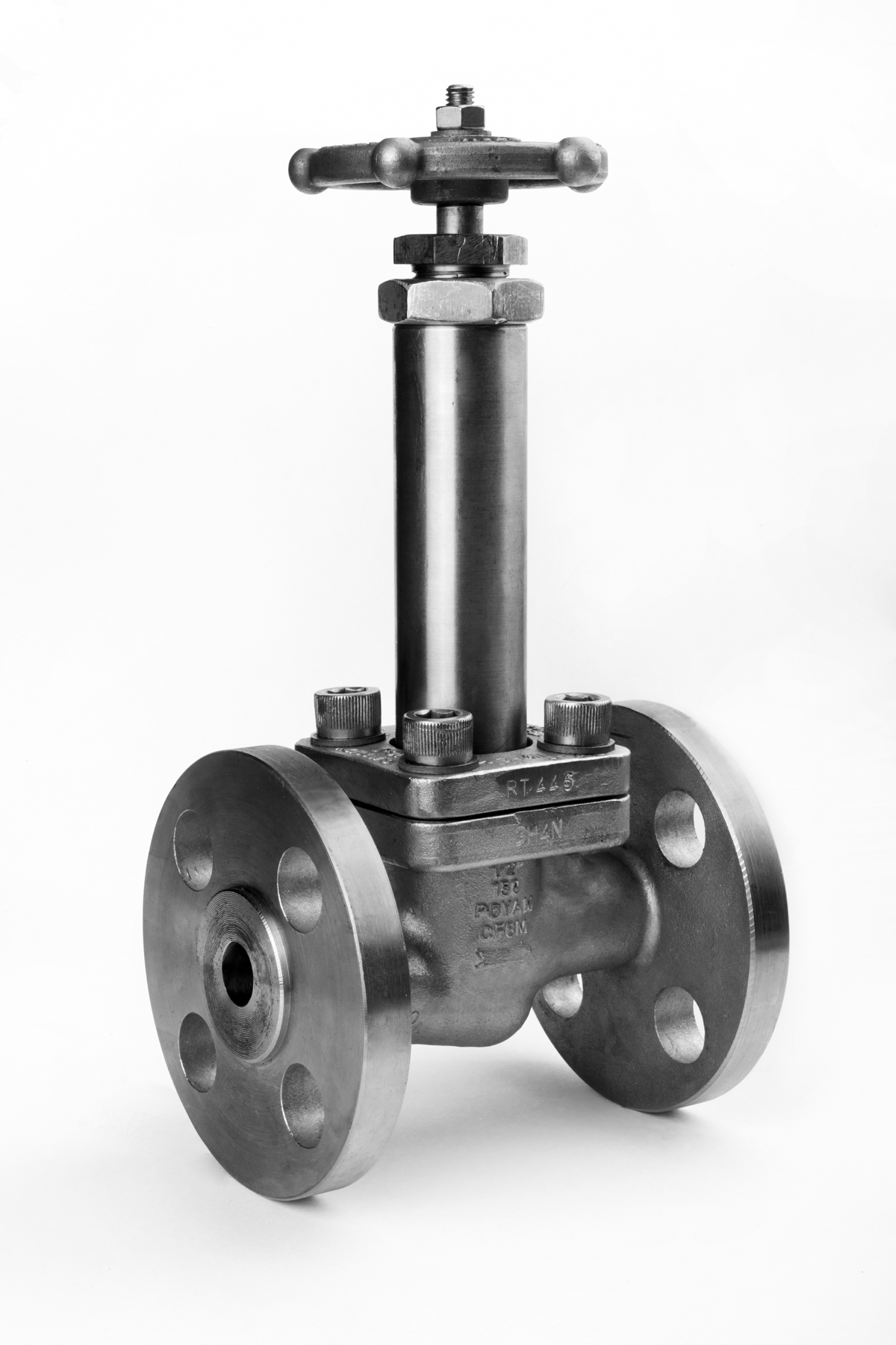 Cryogenic needle globe valve